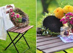 Gartenstuhl mit Blumen