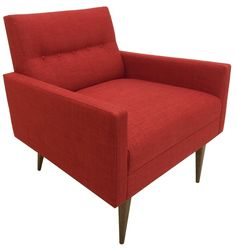 The Cosmo Chair in Linen Cherry Fabric