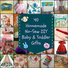 40 Homemade No-Sew Baby And Toddler Gifts | So many wonderful kinds of no-sew baby and toddler gifts can be made if you do not know how to sew.
