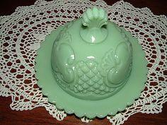 Jadeite butter dish