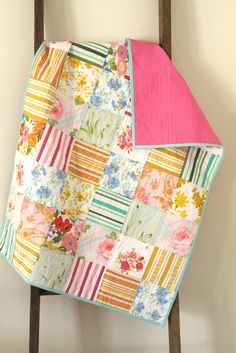 love this vintage sheet baby quilt! so simply and lovely!  I pretty much have pinned everything this woman makes; LOVE it
