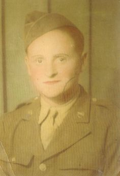 My dad when he first went in the Army during WWII ... my hero!