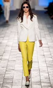 Shades were seen all over the Paul Smith catwalk along with monochrome trends and bold colours