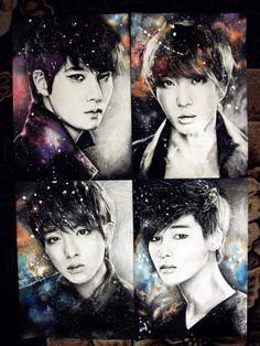 CNBLUE by sasha-pak.deviantart.com on @deviantART Cnblue, Hot Tattoos, Chibi, Drama, Artsy, Romance, Fan Art, Drawings, Fun