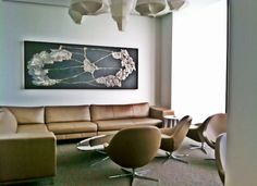 BoConcept Veneto chairs & Morini sofa in Grace Restaurant lounge, Chicago