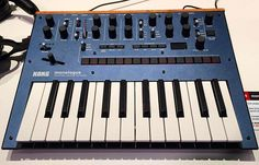 The new Korg Monologue: your latest obsession.  #guitarcenter #namm #nammshow #namm2017 #anaheim #losangeles #california #musician #conference #show #korg #korgofficial #blue #synth #synthesizer #producer #dj #music #love #beautiful
