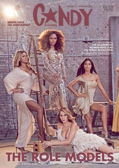 Pin for Later: Laverne Cox Appears on Candy Magazine's All-Transgender Cover The actress appears alongside writer and activist Janet Mock, model Carmen Carrera, and model Geena Rocero. Sienna Miller, Jennifer Aniston, Transgender, Carmen Carrera, Janet Mock, Laverne Cox, Johann Wolfgang Von Goethe, Fashion Mag, Covergirl
