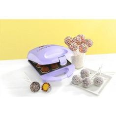 10 Best Electric Cake Pop & Mini Cake Makers 🏡 (Updated May Cool Kitchen Gadgets, Cool Kitchens, Purple Cake Pops, Babycakes Cake Pop Maker, Salty Cake, Cake Makers, Just Cakes, Baking Supplies, Kitchen Gifts