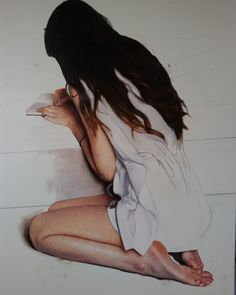 """White letter"", oil on canvas, work in progres"