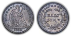 1839 Seated Liberty Half Dime PCGS MS65 CAC - Submitted by Thomas Bush Numismatics & Numismatic Photography (http://ivyleaguecoin.com) #CoinOfTheDay #COTD
