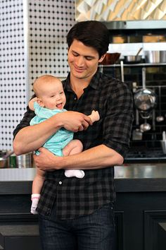 Nathan Scott and baby Lydia...James Lafferty,you are one gorgeous man and will make an AMAZING father.