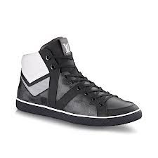 Louis Vuitton Reflective Mens Sneakers http://www.louisvuitton.com/front/#/eng_US/Collections/Men/Shoes/products/Heroes-sneaker-boot-in-Damier-canvas-891901