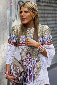 """The Many Bags of Anna Dello Russo: """"...Then it's right back to matchy-matchy mosaics of religious iconography."""""""