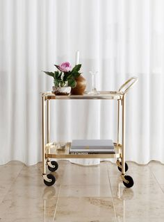 chic bar cart