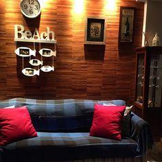 Um cantinho bem aconchegante e com cara de praia em um apto no Rio de Janeiro. Projeto Cris Paola Foto Cacá Sanchez  #studiocrispaola #casadepraia #litoral
