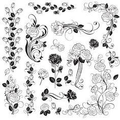 Free Digi Stamp | Roses    Website has lots of free downloads.
