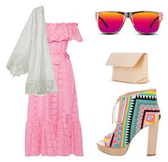 """""""Weekend Dress Down"""" by jamesj0618 on Polyvore featuring Jerome C. Rousseau, Iala Díez, Lisa Marie Fernandez, Calypso St. Barth and GlassesUSA"""