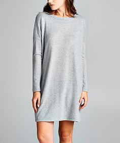 Love this Heather Gray Boatneck Shift Dress - Women on #zulily! #zulilyfinds