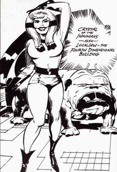 Crystal & Lockjaw by Jack Kirby