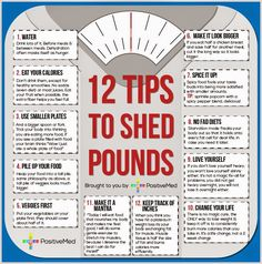 www.GetHealthyGetSkinny.com 12 Tips To Shed Extra Pounds - Health Tips In Pics