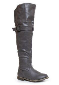 Wysokie kozaki oficerki #szare #jesień #wysokie #boots #autumn