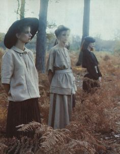 Deborah Turbeville (1932-2013) Week: Valentino Fashion, Normandy, VOGUE Italia, 1978