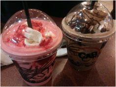 Strawberry and Chocolate Frappe of Café Bob's