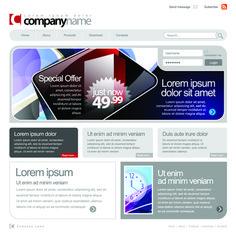 Gray Vector Website Templates design elements 04