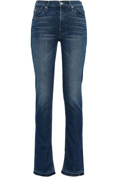 Shop on-sale Faded mid-rise straight-leg jeans. Browse other discount designer Straight Leg Jeans & more luxury fashion pieces at THE OUTNET Jeans For Sale, Dark Denim, Discount Designer, Bell Bottoms, Bell Bottom Jeans, Luxury Fashion, Legs, Winter, Pants