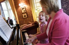 Emily & Wendy at the piano 2006
