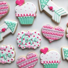 Looking for cookies? Shop Etsy's selection of over handcrafted and vintage cookies, plus thousands of other items like it! Discover all cookies through Etsy's community today! Valentine's Day Sugar Cookies, Sugar Cookie Royal Icing, Fancy Cookies, Iced Cookies, Cut Out Cookies, Cute Cookies, Cupcake Cookies, Heart Cookies, Baking Cookies