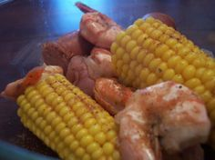BBQ Thanksgiving Old Bay Shrimp Boil. If you dont like shrimp omit it. This makes your corn taste yummy. #ultimatethanksgiving