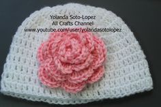 How to #crochet a #Rose  (English Video)