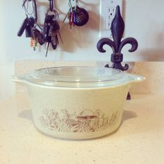 Vintage Pyrex Forest Fancies cassorole with by LivingWellVintage, $12.50