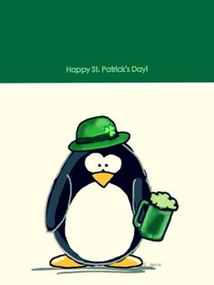 Happy St. Patrick's Day Penguin! Thank you dear Mimmi for sending this to me xoxo 03162016