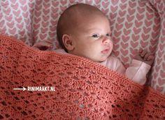 Baby dekentje met open waaiers haken. - rinimaakt