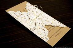 25 x Rustic Chic Wedding Invitation Paper Doily / ...