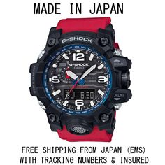 CASIO G-SHOCK MUD MASTER RESCUE RED GWG-1000RD-4A RARE LIMITED MADE IN JAPAN
