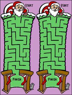 santas chimneys mazes