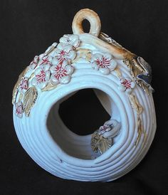 Hanging Coiled Ceramic Bird House or Feeder with by RJMceramics, $45.00