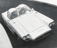 Designed and built under the personal supervision of William (Bill) Mitchell, the wild-looking XP-700 used many regular Corvette components, such as the frame, chassis parts and engine. The fiberglass body was extensively redesigned with a 'grand prix' appearance. http://www.carstyling.ru/en/car/1958_chevrolet_corvette_xp_700/