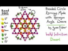Beaded Circle Earrings Made with Hexagon Weave by Gwen Fisher with Doceri - YouTube