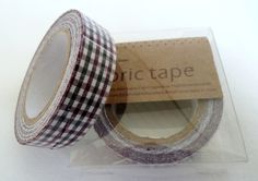 Masking Tape – Beautiful checked Fabric Tape - Grey-Purple-White CHECK PATTERN, perfect for gift wrapping – a unique product by shumakerpaperie on DaWanda