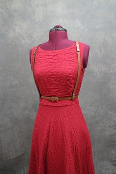f5ba1dea86bb5 Items similar to Jane Light Leather Harness in Caramel Brown on Etsy. Risa  Fiorini