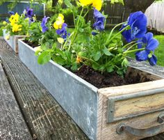 Filing Cabinet Drawers Repurposed as Garden Planters