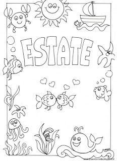 maestra Nella: estate Free Coloring Pages, Coloring Books, Italian Lessons, Page Borders Design, Notebook Art, Doodle Coloring, Book Images, Creative Teaching, Embroidery Patterns