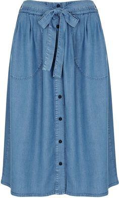 Pin for Later: Spring's Coolest Retro Denim Skirts For All Budgets  Miss Selfridge Super Soft Denim Skirt (£35)