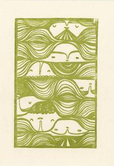 Laura Berger - Flow - gocco print