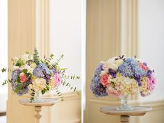 Mock up floral arrangement for a bride - pink, peach, white, blue and violet colors - so vibrant!