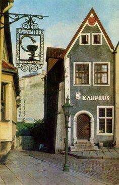 Corner of the town hall square, Tallinn, 1974